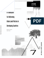A Framework for Reforming Urban Land Policies in Developing Countries