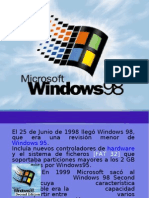 Diapositivas Windows 98.