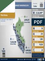 Ficha Técnica - Elecciones Municipales y Regionales 2014
