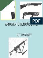 ARMAMENTO MUNIÇÃO E TIRO