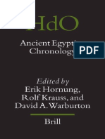 Hornung E. Ancient Egyptian Chronology Handbook of Oriental Studies