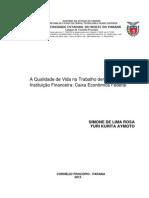 10-A Qualidade de Vida No Trabalho Dentro de Uma Instituicao Financeira