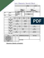 Character Sheet - Bordered