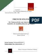 French online - De l'interactivité aux interactions, tentative de modifications des pratiques