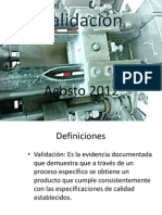 Presentación de validación ( Baclin)