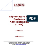 DBA Diplomatura en Business Administration UB 2014