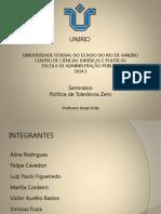 Apresentação - Seminários de Políticas Públicas - Tolerância Zero (1)