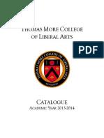 Thomas More College Catalogue 2013-14