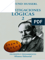 Investigaciones Lógicas II - Edmund Husserl