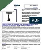 Mcg 1600 Transmisor de Nivel Tipo radar