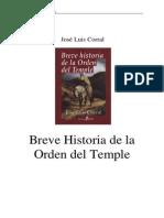 Breve Historia de La Orden Del Temple - Jose Luis Corral
