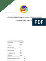Analisis Keputusan Spm 2014