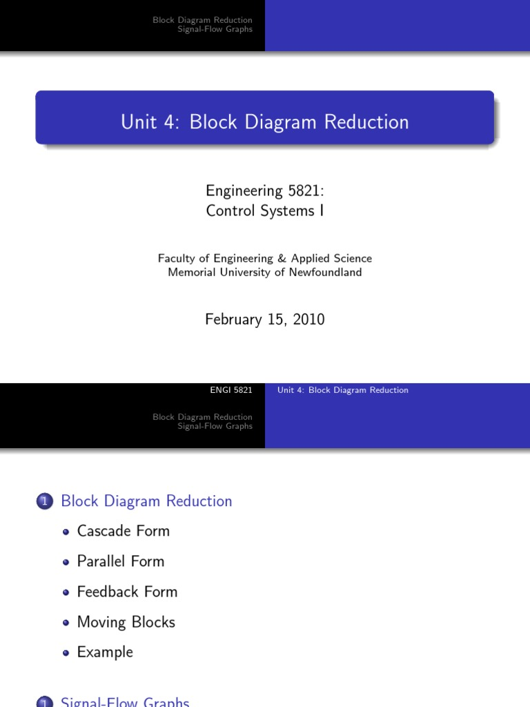 Block Diagram Reduction Function Mathematics Electrical Impedance Example Of