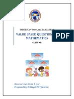 Value Bases Maths Class 12