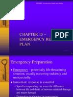 Chapter 15 Emergency Plan