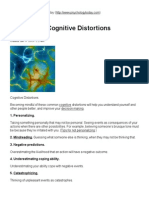 50 Common Cognitive Distortions