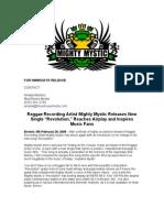 Mighty Mystic Revolution Press Release 2 08