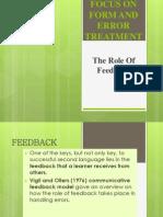 Role of Feedback