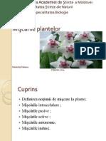 Miscarile plantelor