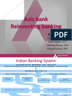 Axis Bank- Marketing of services