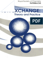 Ion Exchange-Theory and Practice 2nd Edition (1994)