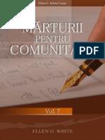 Marturii Pentru Comunitate Vol.7