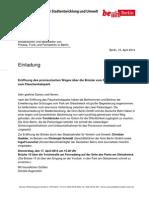 Einladung zur Eröffnung des prov. Übergangs vom Flaschenhals- in den Gleisdreieckpark