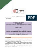 II Curso-concurso de Direccion Orquestal 2014
