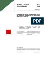 NTC 1504 Clasificacion de Suelos Para Propositos de Ingenieria