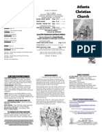 April 13, 2014 Trifold Bulletin