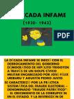 LA DÉCADA INFAME (1930- 1943)