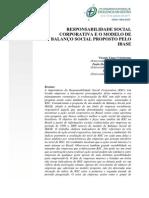 rsc e balanço social proposto pelo ibase