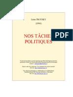 Trotsky Nos Taches Politiques