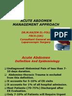 ACUTE ABDOMEN-Approach to Managment-Hazem