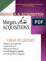 Merger Acquisition