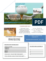 2014 Golf Tournament Flyer