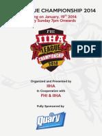 IIHA League Championship 2014