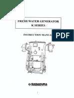 1. Instruction Manual for Fresh Water Generator