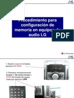 Configuración Memoria equipos LG