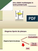 Plansee pentru structuri multietajate in varianta prefabricata