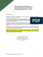 Orientacoes Para Bolsistas Programa Ciencia Sem Fronteiras-Graduacao Sanduiche EUA