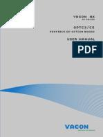 Vacon NX OPTC3 C5 Profibus Board User Manual DPD00
