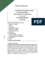 Certificado de Trabajo Art 80 - Camara Nacional de Apelaciones