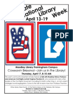 National Library Week Flyer - Peace