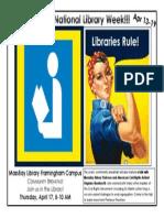 National Library Week Flyer - Libraries Rule