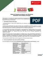 Edital Bolsas Luso Santander 2