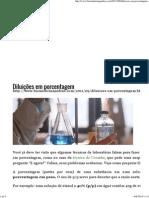 Diluições em porcentagem _ Biomedicina Padrão
