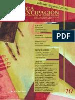 Revista Critica Y Emancipacion N 10.