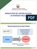 Normatidad de Snip Julio Araujo Colquehuanca