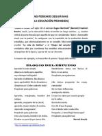 LA EDUCACIÓN PROHIBIDA1